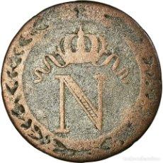 Monedas antiguas de Europa: MONEDA, FRANCIA, NAPOLÉON I, 10 CENTIMES, 1809, LILLE, BC+, VELLÓN, KM:676.9. Lote 194743020