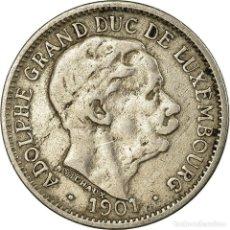 Monedas antiguas de Europa: MONEDA, LUXEMBURGO, ADOLPHE, 10 CENTIMES, 1901, MBC, COBRE - NÍQUEL, KM:25. Lote 194743156