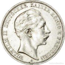 Monedas antiguas de Europa: MONEDA, ESTADOS ALEMANES, PRUSSIA, WILHELM II, 3 MARK, 1909, BERLIN, MBC+. Lote 194743365
