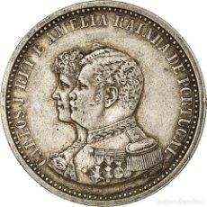 Monedas antiguas de Europa: MONEDA, PORTUGAL, CARLOS I, 500 REIS, 1898, BC+, PLATA, KM:538. Lote 194743438