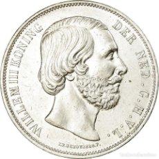 Monedas antiguas de Europa: MONEDA, PAÍSES BAJOS, WILLIAM III, 2-1/2 GULDEN, 1869, UTRECHT, EBC, PLATA. Lote 194743556
