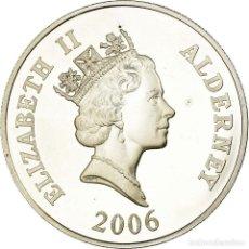 Monedas antiguas de Europa: MONEDA, ALDERNEY, ELIZABETH II, 5 POUNDS, 2006, BRITISH ROYAL MINT, PROOF, SC. Lote 194743983