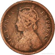 Monedas antiguas de Europa: MONEDA, INDIA BRITÁNICA, VICTORIA, 1/12 ANNA, 1 PIE, 1901, BC, COBRE, KM:483. Lote 194744020