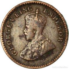 Monedas antiguas de Europa: MONEDA, INDIA BRITÁNICA, GEORGE V, 1/12 ANNA, 1 PIE, 1926, BC+, BRONCE, KM:509. Lote 194744023