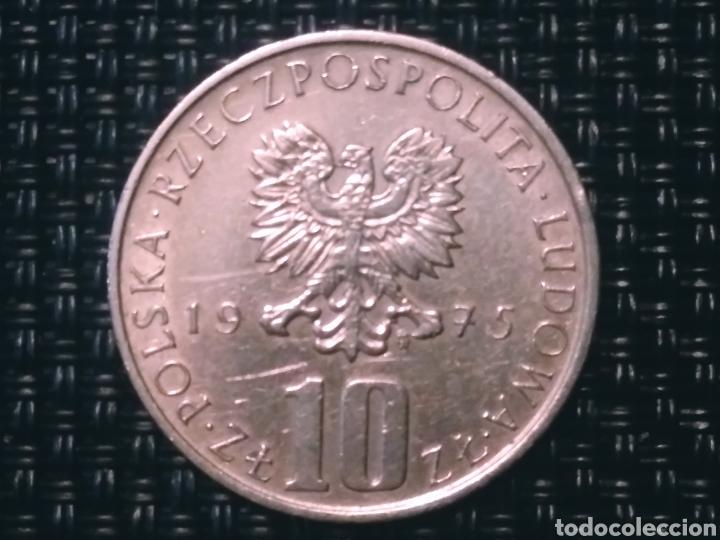 Monedas antiguas de Europa: 10 zt. 1975 Polonia - Foto 2 - 194780243