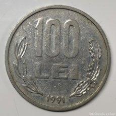 Monedas antiguas de Europa: MONEDA RUMANÍA, 100 LEI 1991. Lote 194788958