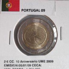 Monedas antiguas de Europa: MONEDA DE 2 € CC PORTUGAL 2009, UME, SIN CIRCULAR.. Lote 194860758