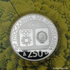 Monedas antiguas de Europa: YUGOSLAVIA 250 DINAR 1982 PROOF OLIMPIADA SARAJEVO 1984 PLATA KM 108. Lote 194861706