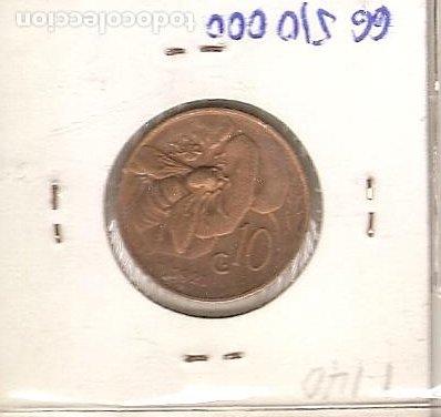 Monedas antiguas de Europa: ITALIA 1921. MONEDA DE 10 CENTIMOS DE VITTORIO EMENUELE III. EBC - Foto 2 - 194881701