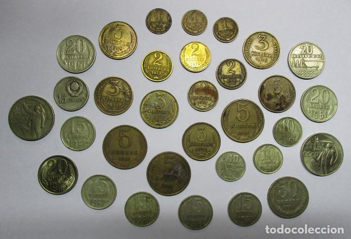 CONJUNTO DE 32 MONEDAS ANTIGUAS DE LA ANTIGUA UNION SOVIETICA U.R.S.S. LOTE 2328 (Numismática - Extranjeras - Europa)