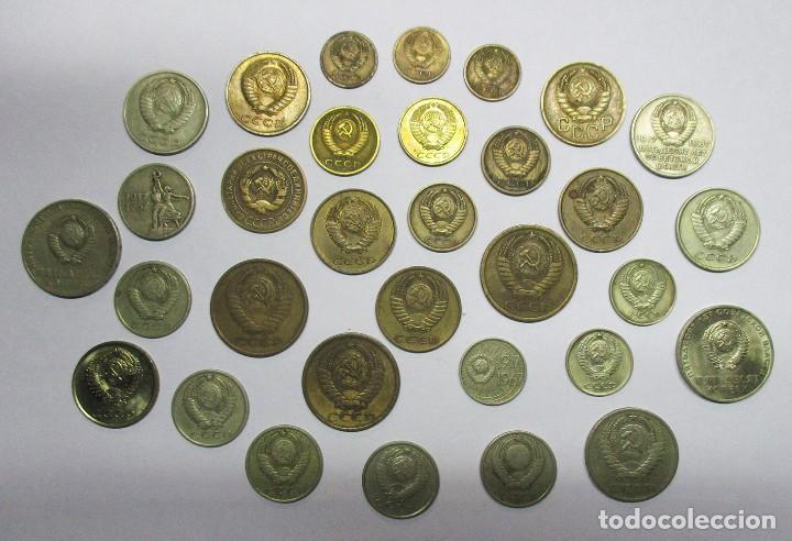 Monedas antiguas de Europa: CONJUNTO DE 32 MONEDAS ANTIGUAS DE LA ANTIGUA UNION SOVIETICA U.R.S.S. LOTE 2328 - Foto 2 - 194883872