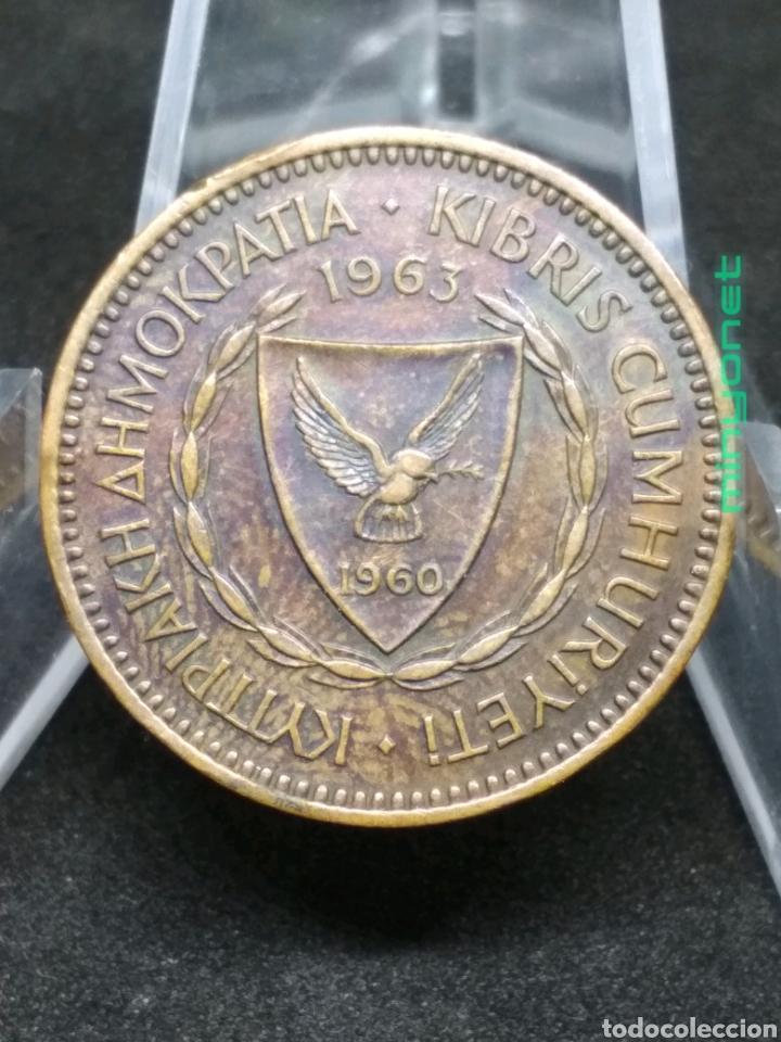 Monedas antiguas de Europa: Moneda 5 Mils Chipre 1963 - Foto 2 - 194895406