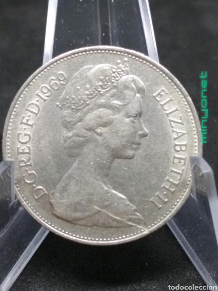 Monedas antiguas de Europa: Moneda 10 New Pence de Reino Unido de 1969 Peniques - Foto 2 - 194896676