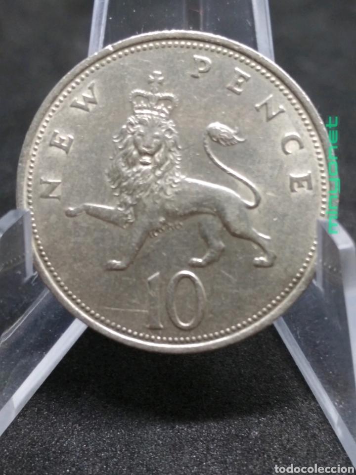 MONEDA 10 NEW PENCE DE REINO UNIDO DE 1969 PENIQUES (Numismática - Extranjeras - Europa)