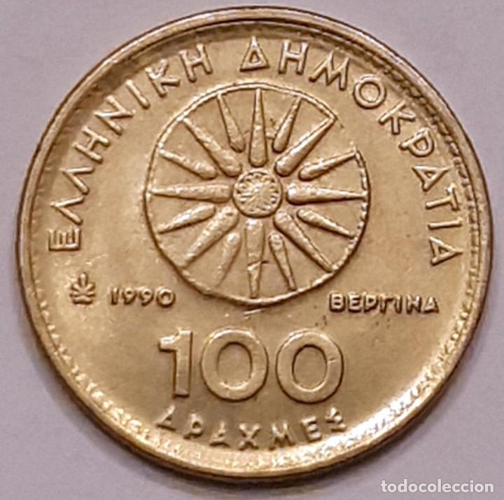 Monedas antiguas de Europa: MONEDA DE GRECIA 100 DRACMAS 1990 - Foto 2 - 194903105