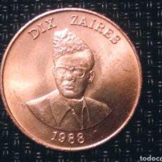 Monedas antiguas de Europa: 10 Z 1988 ZAIRE. SIN CORCULAR. Lote 194903110