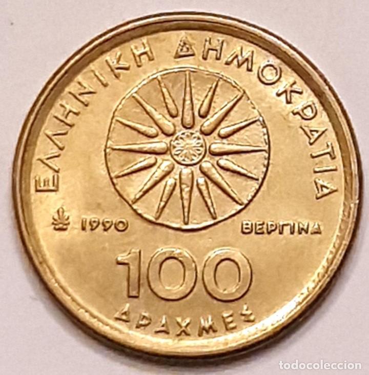 Monedas antiguas de Europa: MONEDA DE GRECIA 100 DRACMAS 1990 - Foto 2 - 194903135