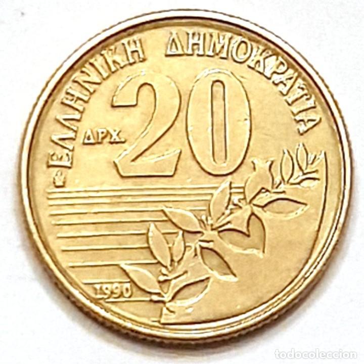 Monedas antiguas de Europa: MONEDA DE GRECIA 20 DRACMAS 1990 - Foto 2 - 194903453
