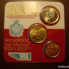 Monedas antiguas de Europa: SAN MARINO, SET OFICIAL DE 3 MONEDAS AÑO 2006 S/C. Lote 194906278