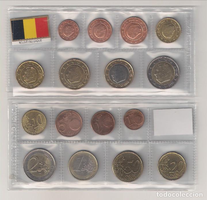 TIRA DE LAS MONEDAS DE EURO DE BÉLGICA DEL AÑO 2004. SIN CIRCULAR. (Numismática - Extranjeras - Europa)