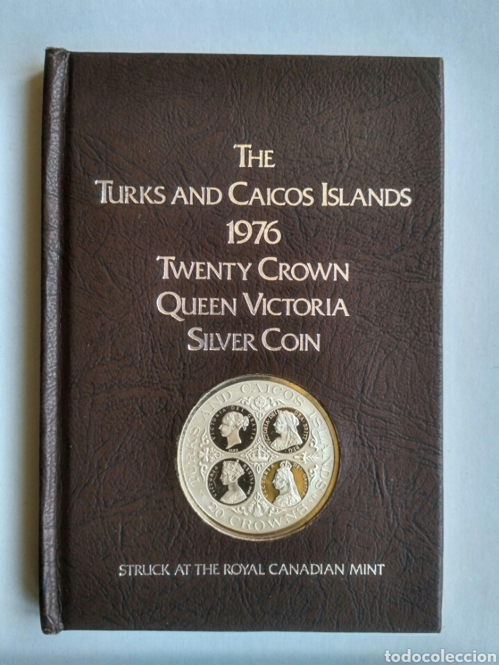 THE TURKS AND CAICOS ISLANDS - 20 CORONAS DE PLATA 1976 HOMENAJE A LA REINA VICTORIA (Numismática - Extranjeras - Europa)