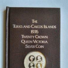 Monedas antiguas de Europa: CANADÁ - THE TURKS AND CAICOS ISLANDS - 20 CORONAS DE PLATA 1976 HOMENAJE A LA REINA VICTORIA. Lote 194925516