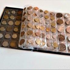 Monedas antiguas de Europa: GRAN ALBUM CON 250 MONEDAS VARIAS DEL MUNDO. Lote 194945413