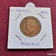 Monedas antiguas de Europa: MONACO 20 FRANCOS 1950. Lote 194997328
