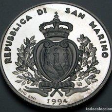 Monedas antiguas de Europa: SAN MARINO 1000 LIRAS 1994 FUTBOL. Lote 195006992