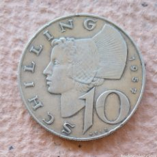 Monedas antiguas de Europa: MONEDA. AUSTRIA. 10 SHILLING 1957. PLATA.. Lote 195007833