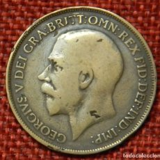 Monedas antiguas de Europa: REINO UNIDO - UNITED KINGDOM - GREAT BRITAIN - 1 ONE PENNY - 1915 - REY JORGE V. Lote 195026010
