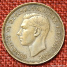 Monedas antiguas de Europa: REINO UNIDO - UNITED KINGDOM - GREAT BRITAIN - 1 ONE PENNY - 1945 - REY JORGE VI. Lote 195026243