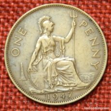 Monedas antiguas de Europa: REINO UNIDO - UNITED KINGDOM - GREAT BRITAIN - 1 ONE PENNY - 1947 - REY JORGE VI. Lote 195026337