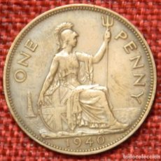 Monedas antiguas de Europa: REINO UNIDO - UNITED KINGDOM - GREAT BRITAIN - 1 ONE PENNY - 1940 - REY JORGE VI. Lote 195026391
