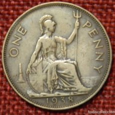 Monedas antiguas de Europa: REINO UNIDO - UNITED KINGDOM - GREAT BRITAIN - 1 ONE PENNY - 1938 - REY JORGE VI. Lote 195026440