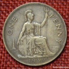 Monedas antiguas de Europa: REINO UNIDO - UNITED KINGDOM - GREAT BRITAIN - 1 ONE PENNY - 1939 - REY JORGE VI. Lote 195026490