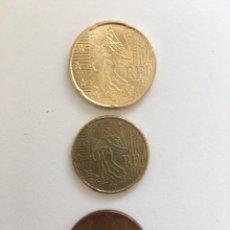 Monedas antiguas de Europa: LOTE 5, 10, 20 EURO CENT FRANCIA 2017 CIRCULADAS. Lote 195065496