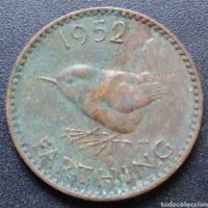 Monedas antiguas de Europa: REINO UNIDO 1 FARTHING 1952 - ENVIO GRATIS A PARTIR DE 35€ - VENDEDOR TONETI_83. Lote 195105323