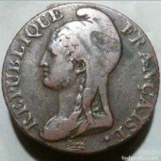 Monedas antiguas de Europa: FRANCIA/PRIMERA REPÚBLICA. 5 CENTIMES L'AN 4 (1795-96).. Lote 195145240