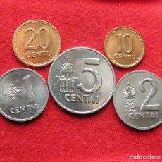 Monedas antiguas de Europa: LITUANIA SERIE 1 2 5 10 20 CENTS 1991. Lote 195154015