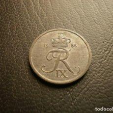Monedas antiguas de Europa: DINAMARCA 2 ORE 1955. Lote 195184940