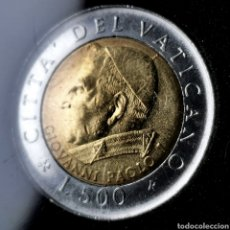 Monedas antiguas de Europa: VATICANO 500 LIRE 2001. Lote 195193146