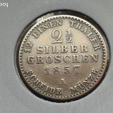 Monedas antiguas de Europa: PRUSIA 2 1/2 GROSCHEN DE PLATA 1857 A. Lote 195196151