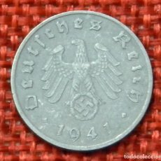 Monedas antiguas de Europa: ALEMANIA - DEUTSCHES REICH – 1941 A – 1 REICHSPFENNIG - KM# 97 - ZINC - 1,81 GRAMOS - 16,5 MM. Lote 195224993