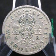 Monedas antiguas de Europa: MONEDA 2 SCHILLINGS GRAN BRETAÑA 1951 CHELINES. Lote 195232228