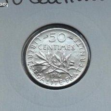Monedas antiguas de Europa: FRANCIA 50 CENTIMOS 1916. Lote 195234546