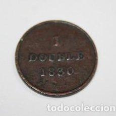 Monedas antiguas de Europa: 68,, MONEDA DE GUERNSEY 1 DOUBLE EN COBRE AÑO 1830 CONSERVACION MBC+. Lote 195236906