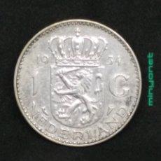 Monedas antiguas de Europa: MONEDA 1 GULDEN PLATA PAÍSES BAJOS 1954 - HOLANDA. Lote 195238495