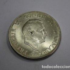 Monedas antiguas de Europa: 123,, MONEDA DE DINAMARCA 2 CORONAS PLATA AÑO 1958, ANV. FEDERICO IX, REV. PRINCESA MARGARET. S/C. Lote 195240003