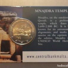 Monedas antiguas de Europa: COINCARD MALTA 2018 MNAJDRA TEMPLE 2018. Lote 195242587